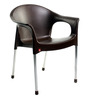 Metallo Cafeteria Chair Set of Two in Brown colour by Cello