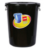 Cello Plastic 125 L Black Storage Bucket with Lid