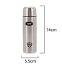 Cello Silver Stainless Steel 350 ML Flip Style Bottle