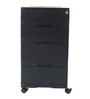 Storewell Chest of Drawers in Black Color by Cello