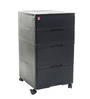 Storewell Chest of Drawers in Black colour  by Cello