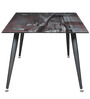 Center Table with Bay View Printed Glass Top by Parin