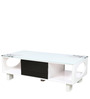 Center Table with Drawer in White Duco Paint by Parin