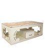 Centre Table with Drawer in White Colour by Lakkarhara