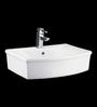 Cera Calida White Ceramic Table Top Wash Basin