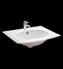 Cera Carmel White Ceramic Wash Basin