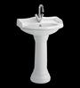 Cera Celeste White Ceramic Wash Basin
