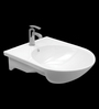 Cera Cluny White Ceramic Wash Basin