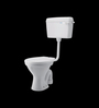 Cera Conventional P Trap White Ceramic Water Closet with Seat Cover with flush tank