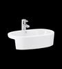Cera Crosby White Ceramic Wash Basin
