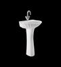 Cera Crown White Ceramic Wash Basin with Pedestal
