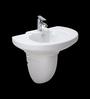 Cera Cyress White Ceramic Wash Basin