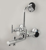 Cera Silver Brass Diana Quarter Turn 3 In 1 Wall Mixer With Arrangement