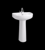 Cera White Ceramic Wash Basin without pedastal