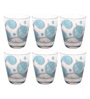 Cerve Domino Glass 300 ML Water Tumblers - Set of 6