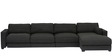 Chapman Extra Spacious LHS Sofa with Right Side Lounger by Furny