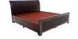 Chocolate Queen Bed with storage in Balck colour by Looking Good Furniture