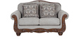 Chrysler Fabric Two Seater Sofa in Beige Colour by HomeTown