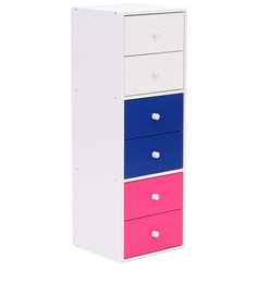 McLana Chest of Drawers in Multicolour by Mollycoddle