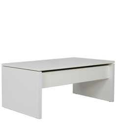 Chi Chi Multifunctional Coffee Table with Storage in White Colour by Gravity