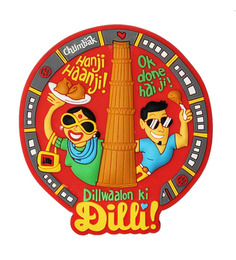 Chumbak Multicolour Pvc Delhi Fridge Magnet