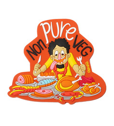 Chumbak Multicolour Pvc Pure Non Veg Fridge Magnet