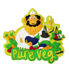 Chumbak Multicolour Pvc Pure Veg Fridge Magnet