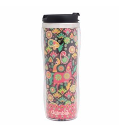 Chumbak Royal Animals Stainless Steel & Bpa Free Plastic 380 ML Sipper Water Bottle