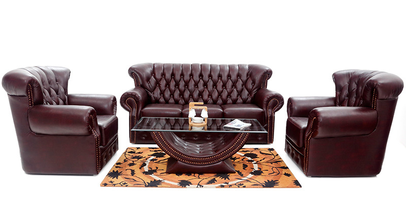 Chester 3+1+1 Sofa Set and Centre Table by Looking Good Furniture