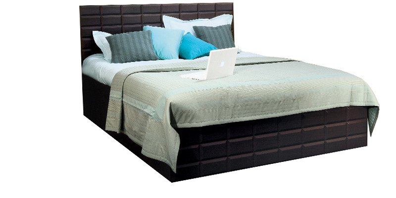 Chocolat King Bed In Cola Rain Colour By Godrej Interio By Godrej Interio Online King Sized