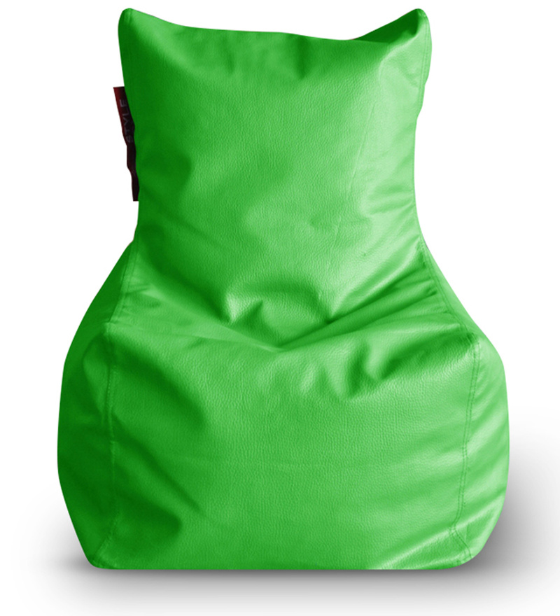 Chair Bean Bag XL size in Green Colour with Beans by Style Homez  available at Pepperfry for Rs.1699