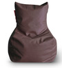 Chair Bean Bag (Cover Only) L size in Chocolate Brown Colour  by Style Homez