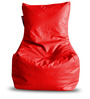 Chair Bean Bag (Cover Only) XL size in Red Colour  by Style Homez