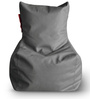 Chair Bean Bag L size in Grey Colour with Beans by Style Homez