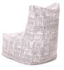Chair Cotton Canvas Newspaper Design Bean Bag XXL Size Cover Only by Style Homez