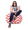 Chair Cotton Canvas Striped Bean Bag XXL Size Cover Only by Style Homez