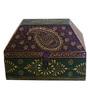 CS Exports Multicolour Mango Wood Vintage Hand Painted Jodhpuri Sandook