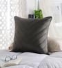 Chandrika Grey Silk 20 x 20 Inch Cushion Cover