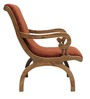 Charlotte Teak Wood Chair with Leg Rest in Natural Teak Finish by Finesse