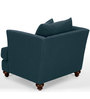 Chasin Snuggle One Seater Sofa in Dark Blue Colour by Furny