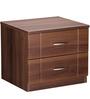 Checkers Bed Side Table in Walnut & Acacia Dark Matt Finish by Debono