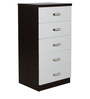 Chest of Five Drawers in White Colour by Penache Furnishings