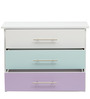 McCheri Chest of Three Drawers in Blue and Violet Colour by Mollycoddle