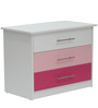 McMimi Chest of Three Drawers in Red and Pink Colour by Mollycoddle
