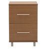 Filing Cabinet with Two Drawers in Brown Oak Finish by Heveapac
