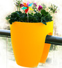 Chhajed Garden Balcony Railing Yellow Plastic Planter