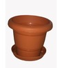 Chhajed Garden Terracotta Plastic Round Pot - Set of Six