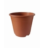 Chhajed Garden Brown Terracotta Plastic Round Pot - Set of Six