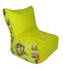 Chhota Bheem Digital Printed Filled Bean Chair in Multicolour by Orka