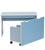 Children Table + Stool in Sky Blue Colour by Heveapac